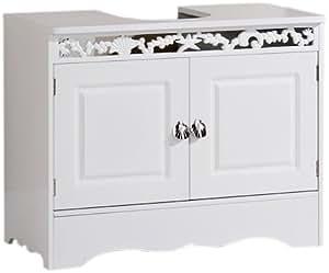 Furniture Solutions Meuble Sous Lavabo Frise Corail Blanc