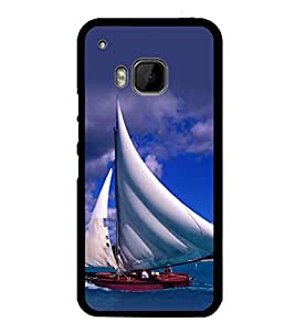 printtech Water Ship Sailing Back Case Cover for HTC One Hima