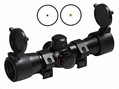 "Ultimate Arms Gear Tactical Dual Red & Green Dot CQB Remington 870 12/20 Gauge Shotgun Rifle Scope 7/8"" Weaver Picatinny Rail Mounting Rings, Lithium Battery & Lens Cleaning Kit from Ultimate Arms Gear"