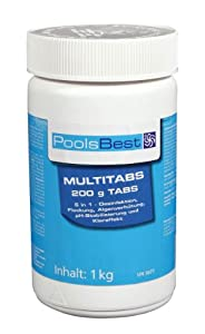 1 Kg - PoolsBest® Chlor Multitabs 5in1, 200g Tabs