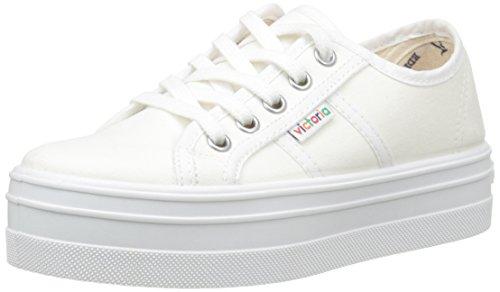 VictoriaBasket Lona Plataf. - Sneaker Unisex - Adulto , Bianco (Blanc (20 Blanco)), 34
