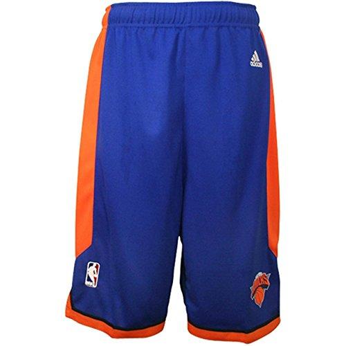 NBA New York Knicks Youth Boys 8-20 Replica Road Shorts, Medium (10/12), Blue (New York Knicks Jersey Kids compare prices)