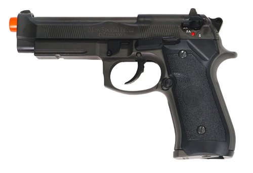 hfc m9 full metal gas blowback airsoft pistol semi/full auto built-in rail(Airsoft Gun) (Full Metal Blowback Green Gas compare prices)