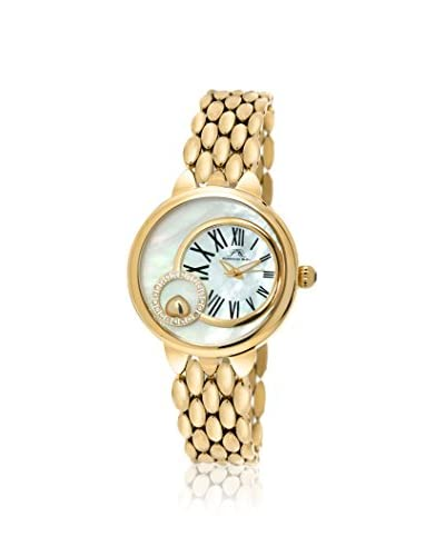 Porsamo Bleu Women's 721BCLS Claire Gold-Tone/White Stainless Steel Watch