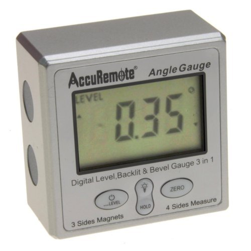 AccuRemote Digital Electronic Magnetic Angle Gage Level / Protractor / Bevel Gauge - LED Lighted Display
