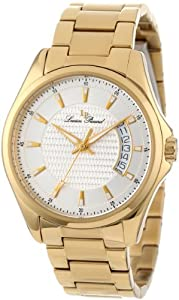 Lucien Piccard Men's 98660-YG-11 Excalibur Silver Textured Dial Gold Ion-Plated Stainless Steel Watch