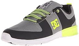 DC Lynx Lite R Skate Shoe, Grey/Yellow, 10 M US