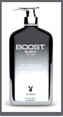 Playboy Boost Black Daily Moisturizer Tan Extender 16 Oz by Playboy