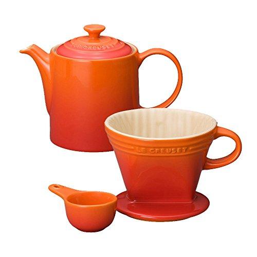 Le Creusetティーポット&ドリッパー オレンジセット 4210100151SET