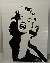Duct Tape Art Piece of Marilyn Monroe