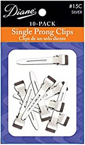 Diane Professional Single-prong Curl Clips * 10 Pack * Great For Pin Curls
