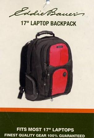 eddie bauer 17 laptop backpack red. Black Bedroom Furniture Sets. Home Design Ideas