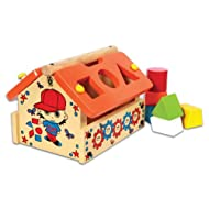 Skillofun Shape Sorting Hut, Multi Color