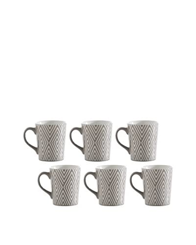 Shiraleah Set of 6 Grey SoHo 16-Oz. Mugs