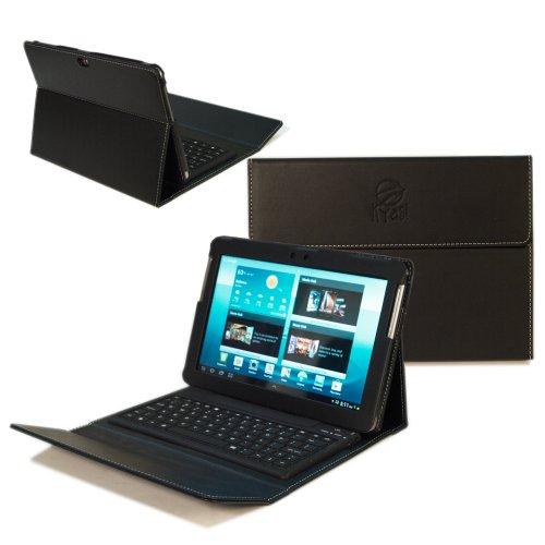 "Kyasi Wireless Executive Bluetooth Tab 2 Keyboard Case Folio for Samsung Galaxy Tab 2 10.1"" with Premium PU Leather"