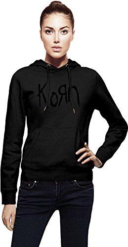 Korn Logo Cappuccio da donna Women Jacket with Hoodie Stylish Fashion Fit Custom Apparel By Genuine Fan Merchandise X-Large