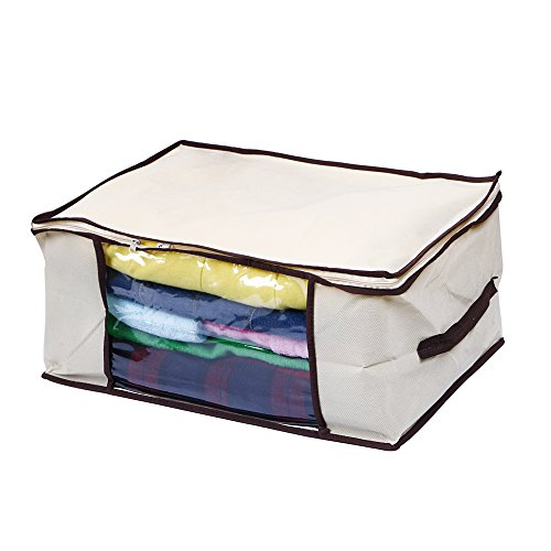 Clothes, Blanket Storage, Anti-mold, Breathable Material, Household Home Organizers Tidy Up Your Closets, Shelves, Blankets, Linen Cloth Create Extra Storage Space, Eco-friendly, Transparent Window (DIM: 30x45x60cm) (Storage Containers Blanket compare prices)