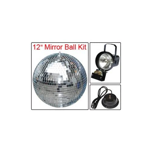 High Quality Electric Wonderful Coulorful Club Show Party Disco Light Effect 12 Inch In Mirror Ball Motor Set Kit Indoor Home