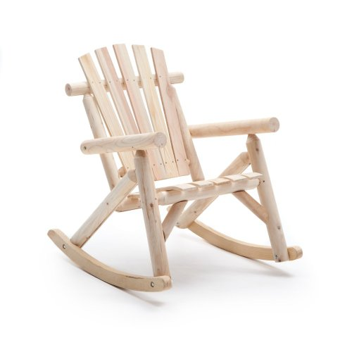 Coral Coast Log Rocking Chair front-506425