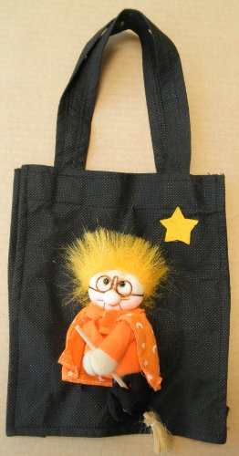 Black Carrying Bag  Witch Figurine Attached -