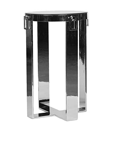 Prima Design Source Polished Accent Table, Polished Nickel