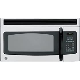 GE Profile Spacemaker Series JVM1540LPCS 1.5 cu. ft. Over-the-Range Microwave Oven - CleanSteel