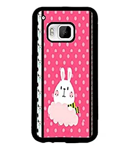 PrintDhaba Bunny D-3821 Back Case Cover for HTC ONE M9S (Multi-Coloured)