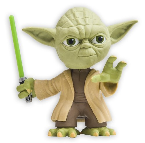 Star Wars Yoda Bobble Head With Green Lightsaber