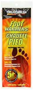 Grabber Warmers 5+ Hour Ultra Thin Foot Warmer Insoles (Small Medium), Box of 30-Pair by Grabber