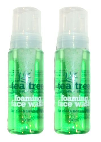 2 X TEA TREE FOAMING FACE WASH 200ml FOR HEALTHY CLEAN SKIN - DAILY USE