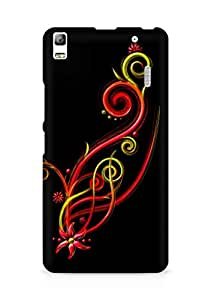 Amez designer printed 3d premium high quality back case cover for Lenovo K3 Note (Abstract Dark 13)