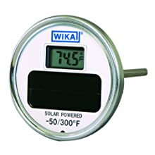 WIKA 304 Stainless Steel Center Back Mount Solar Digital Thermometer
