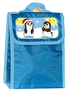 PERSONALIZED LUNCH BAG--PENGUINS