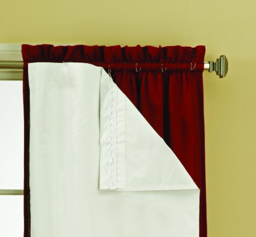 Eclipse 54-Inch by 60-Inch Thermaliner Blackout Panel Pair, White (Energy Saving Curtains compare prices)