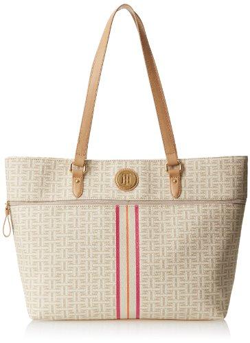 Tommy Hilfiger Coated Classics Shoulder Bag,Biscuit Tonal,One Size