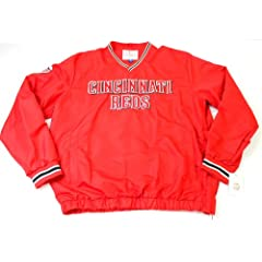 Cincinnati Reds MLB Mens Match-Up Wordmark Pullover Embroidered Jacket Red by G-III Sports