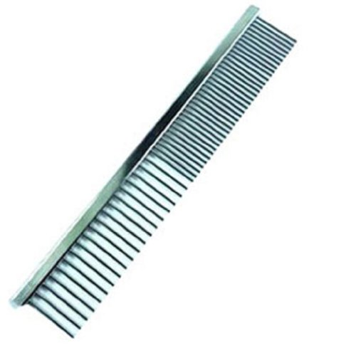 Dog Cat Pet Metal Double Row Teeth Brush Grooming Hair Comb Rake Tool Size