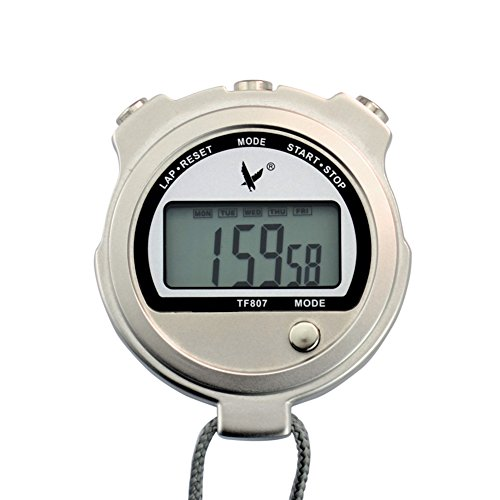 Ckeyin ® Laboratory Dedicated Metal Stopwatch Temperature Display Electronic Timer