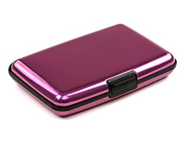 Pink Aluminum Wallet Credit Card Protection Waterproof Case with Metal Aluma Wallet Gift and Gadget Card Guard, Aluma Slide, Aluma Slider, Aluma Slide, Aluma Slider