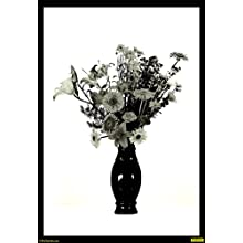 "PixTopper Bouquet In Black And White Paper Poster(Large 44""x44"")"