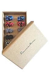 Silk Knot Cufflinks - Gift set 5 pairs - Mixed Black