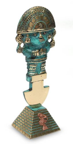 "NOVICA 188797 ""Ceremonial Tumi"" Sculpture, Bronze/Copper"