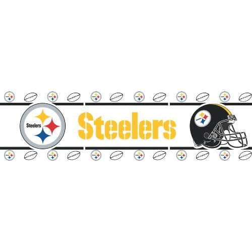 home d 233 cor pittsburgh steelers nfl wallpaper border home