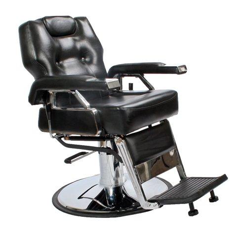Hydraulic Power Chair : Black all purpose hydraulic economy recline barber chair