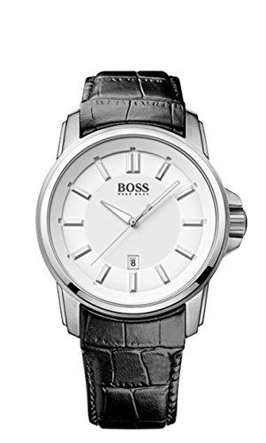 Hugo Boss 1513042 - Reloj de pulsera hombre, piel, color negro