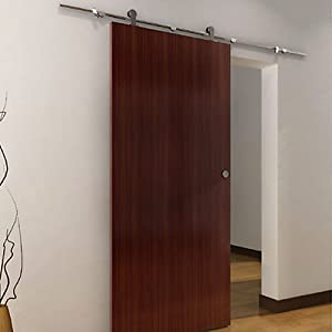 6.6 FT Modern Stainless Steel Interior Sliding Barn Wood Door Hardware Track Set