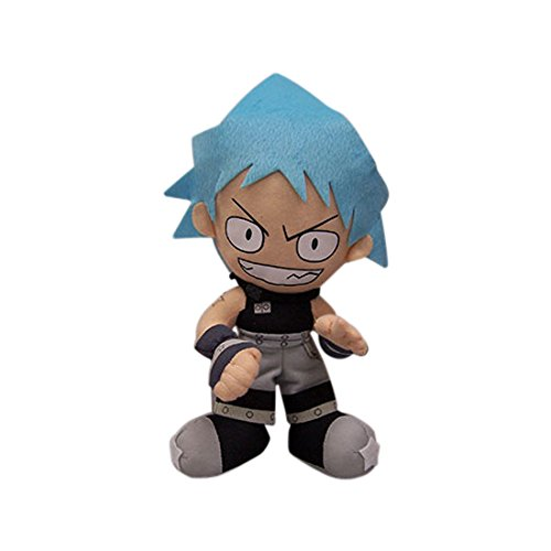 "Great Eastern GE-8932 Soul Eater 9"" Black Star Plush - 1"