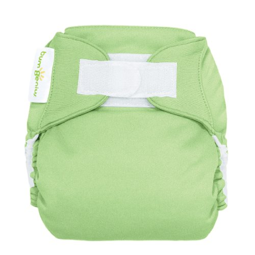 Bumgenius Freetime All-In-One One-Size Hook & Loop Closure Cloth Diaper - Grasshopper front-816638