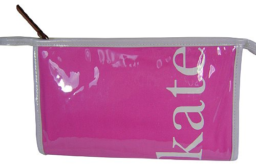 Kate Spade Medium Heddy Kate Coal Cosmetic Bag Pink