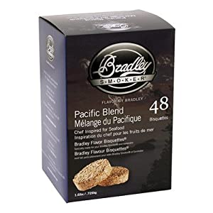 Bradley Smokers Pacific Blend Bisquettes (2.75 x 6.875 x 9.25-Inch, Pack of 48) from Bradley Smoker USA Inc.